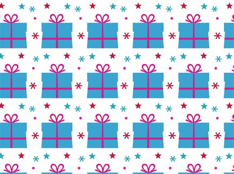 birthday pattern pink vector birthday present vector pattern