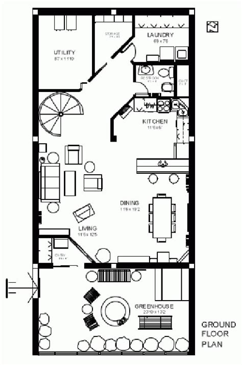 earth home floor plans earth sheltered active home plan