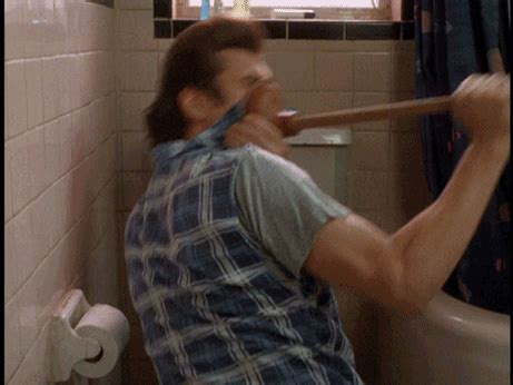 Ace Ventura Bathroom Gif Plunger Gifs Find On Giphy
