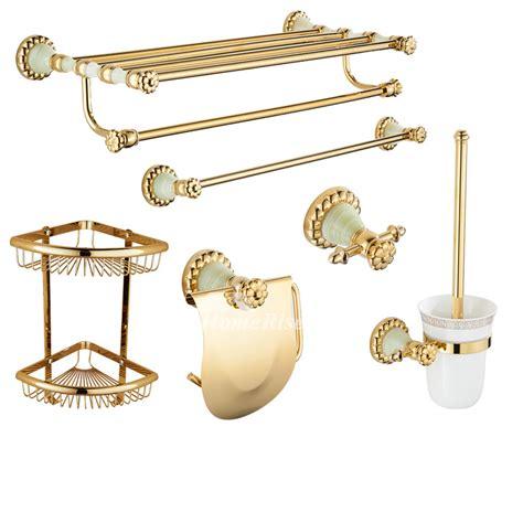 Polished Brass Bathroom Accessories Set Wall Mount Bathroom Polished Brass Bathroom Accessories