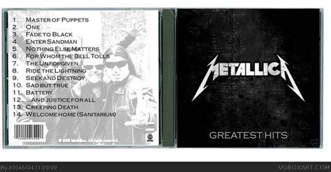 metallica greatest hits cd metallica greatest hits music box art cover by 30045104