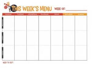 free printable weekly meal planner not quite susie