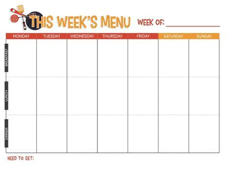 home plan weekly free printable weekly meal planner not quite susie