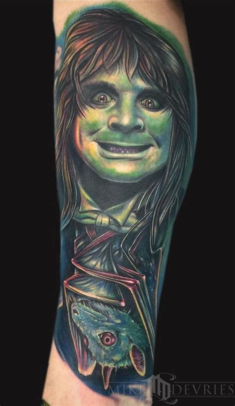 ozzy osbourne tattoos ozzy osbourne and bat by mike devries tattoos