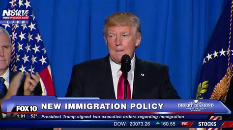 donald trump recent news fnn president donald trump new immigration policy and