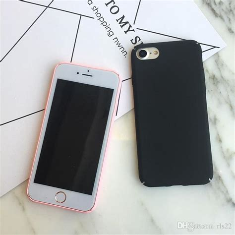 Plain Mobile Iphone 7 7 Plus simple plain frosted matte pc phone for iphone x