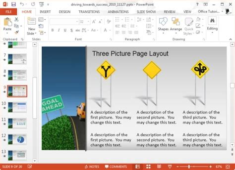animated templates for powerpoint 2013 driving towards success powerpoint template and video