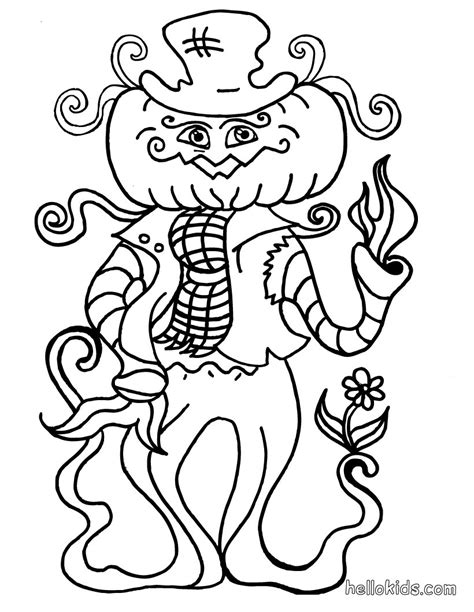 silly pumpkin coloring pages silly strawman coloring pages hellokids com