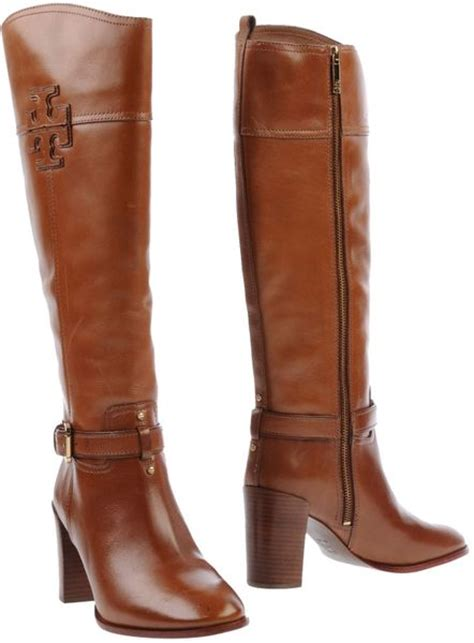burch high heel boots burch high heeled boots in brown lyst