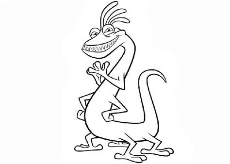 monsters inc coloring pages randall free monsters inc randall coloring pages