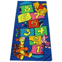 Disney Tinkerbell Hopscotch Rug - rugs children rugs mats children mats