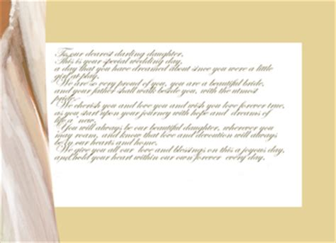 Letter On Wedding Day Letter To On Wedding Day The Wedding Specialists