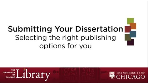 publishing your dissertation selecting publishing options for your dissertation