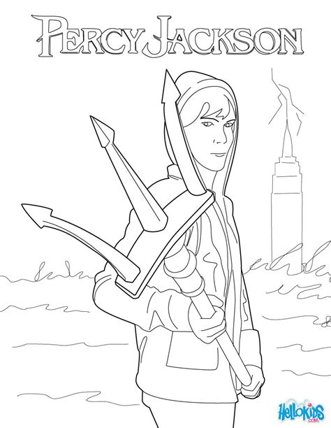 Percy's trident coloring pages - Hellokids.com