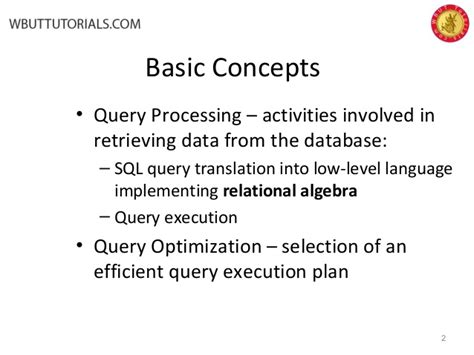 sql query optimization tutorial query processing and optimization