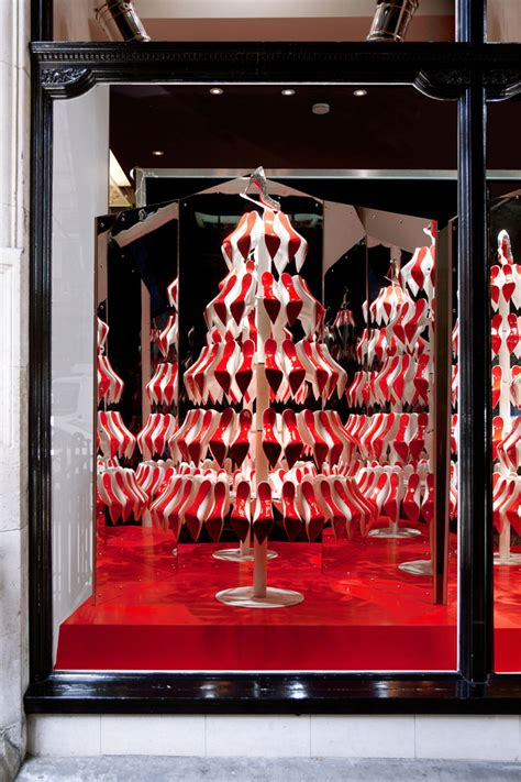 christian louboutin s christmas tree display by studioxag
