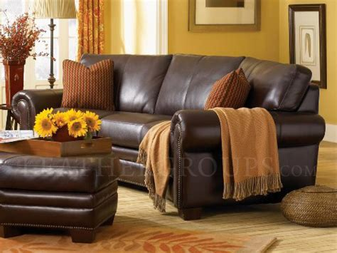 leather trend sofa kimberly borghese top grain leather conversation sofa