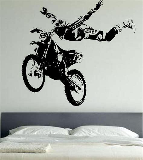 motocross bike stickers motor cross wall stickers motor bike wa161