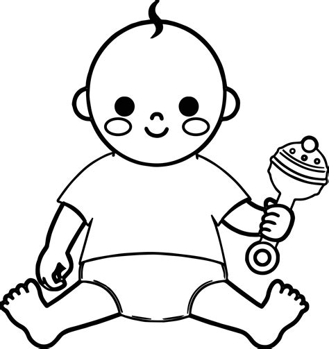 coloring pages of baby toys baby boy and toy coloring page wecoloringpage