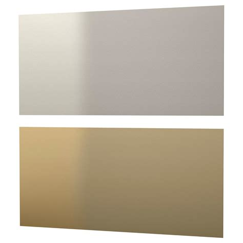 stainless steel wall panels lysekil wall panel sided brass colour stainless steel colour 120x55 cm ikea
