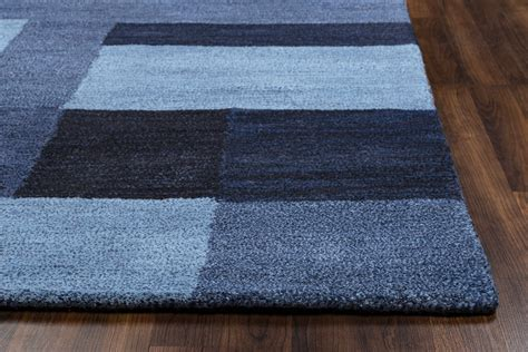 new zealand wool area rugs colours block pattern new zealand wool area rug in blue 8 x 10