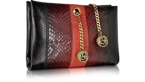 Roberto Cavalli Velvet Snake Wrap Clutch by Roberto Cavalli Orb Black And Ayers Snake Small