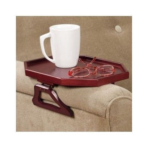 armchair trays armchair wooden tray clip on tv remotes food beverages