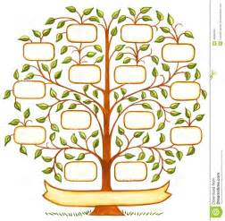 decorative family tree template handpainted family tree stock illustration image 45538183