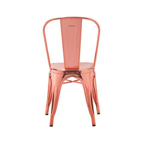 rose gold custom finish tolix chair tablebasedepot