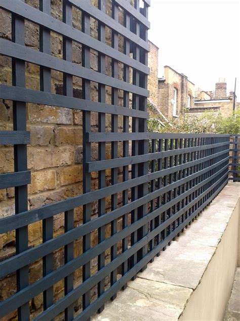Trellis Wall bespoke garden trellis screen for wall top garden