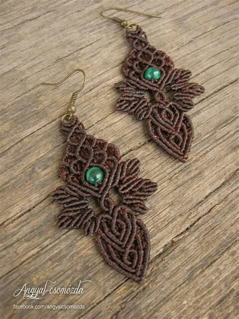 Micro Macrame Tutorials - 25 best ideas about macrame earrings on