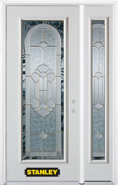 Stanley Exterior Door Stanley Doors 48 Inch X 82 Inch Radiance Lite White Steel Entry Door With Sidelite And