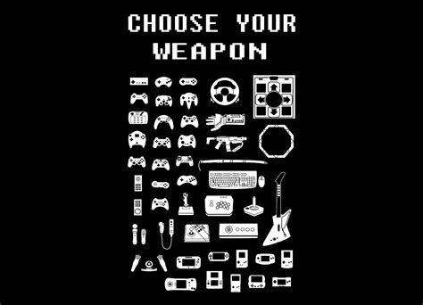 Choose Your Weapon: Gamers by Brian Campbell Threadless