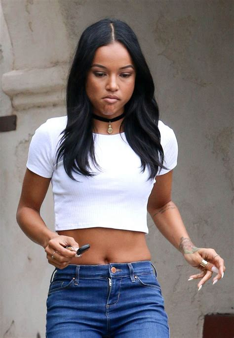 April Top karrueche in tiny top tight out in west