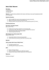 teller goals and objectives free resume sles for bank