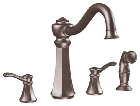 moen vestige kitchen faucet moen 7068orb vestige series 2 handle kitchen faucet w spray rubbed bronze traditional