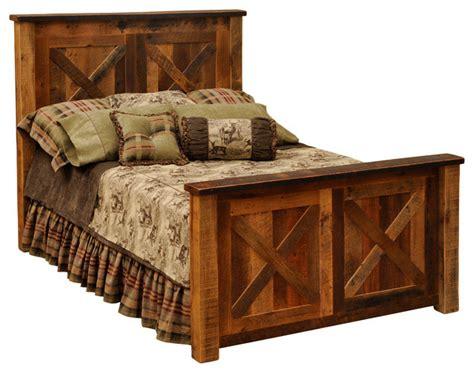 reclaimed wood king bed fireside lodge furniture company barndoor reclaimed wood