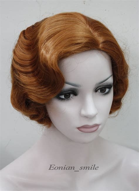 Wig Daily 92 Brown orange brown wave daily hair wig in synthetic wigs from health