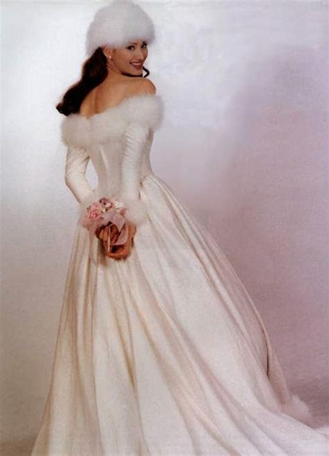 leaf choosing winter wedding dresses  fur