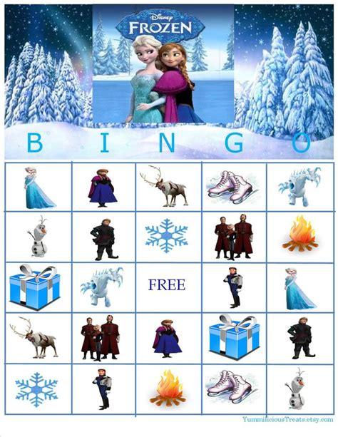 printable disney games disney frozen bingo instant download disney frozen and