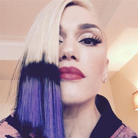 gwen stefani hair color gwen stefani hair dip dyed purple hairstyle
