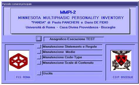 test mmpi italiano 169 psychomedia paolo pancheri e dario de fidio dal