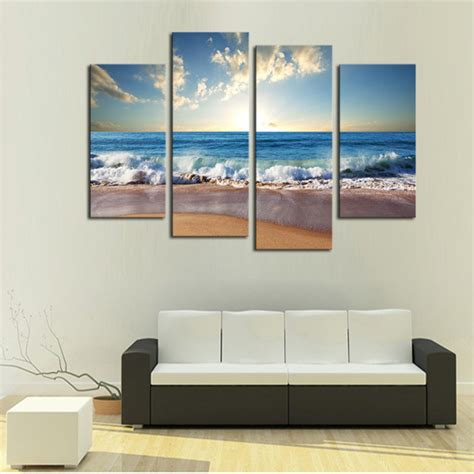 room canvas 4 panels sand large hd canvas print painting for living room wall picture gift home