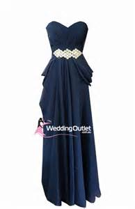 midnight blue evening gown and bridesmaid dress style