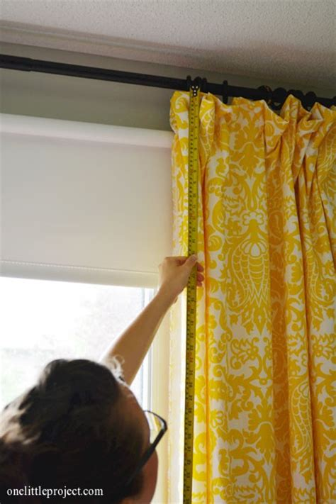 one sided drapes how to make blackout curtains tutorial