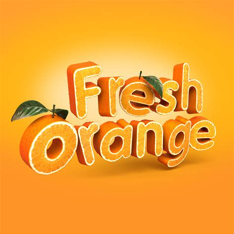 3d text typography tutorial photoshop fresh orange 3d typography on behance