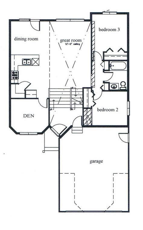 modified bi level floor plans custom homes 1448 square foot modified bi level