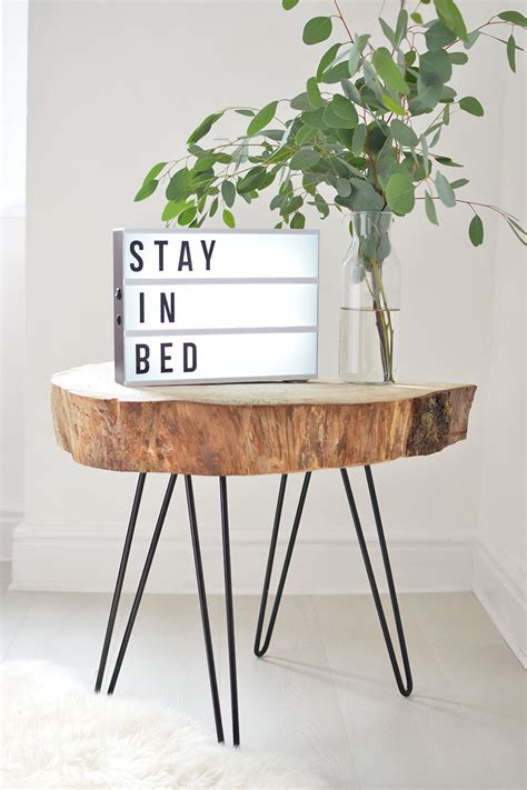 hairpin leg table diy diy tree slice hairpin table burkatron