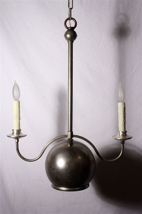 Fabulous Antique Two Light Industrial Gas Chandelier 1880 Gas Light Chandelier