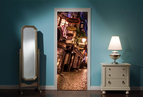 Harry Potter Wall Mural door mural harry potter diagon alley view wall stickers